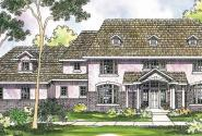 Roxbury - 30-187 - Colonial Home Plan - Front Elevation