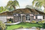 Royston - 30-398 - Mediterranean Home Plan - Front Elevation