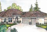 Suncrest - 30-499 - Florida Home Plan - Front Elevation