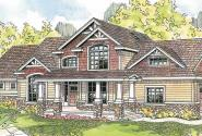 Tillamook - 30-519 - Craftsman Home Plan - Front Elevation