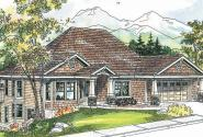 Worthington - 30-594 - Craftsman Home Plan - Front Elevation