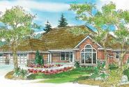 Carson - 30-670 - Ranch Home Plan - Front Elevation