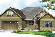 Cascadia - 30-804 - Craftsman Home Plan - Front Elevation