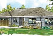 Lake Creek - 30-819 - Ranch Home Plan - Front Elevation