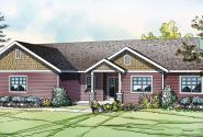 Kensington - 30-843 - Country Home Plans - Front Elevation