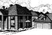 Franklin - 50-001 - Estate Home Plans - Front Elevation