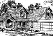 Norkenzie - 50-006 - Contemporary Home Plans - Front Elevation