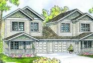 Cartersville - 60-017 - Duplex/Multi-Family Plans - Front Elevation