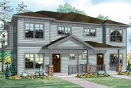 Parkridge - 60-035 - Duplex/Multi-Family Plan - Front Elevation