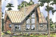 A Frame House Plan - Chinook 30-011 - Front Elevation