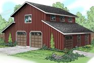 Barn Plan 20-059 - Front Elevation