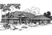 Classic House Plan - Brentwood 30-007 - Front Elevation