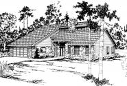 Contemporary House Plan - Brazos 51-001 - Front Elevation