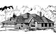 Contemporary House Plan - Compton 10-019 - Front Elevation
