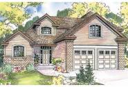 Contemporary House Plan - Cranston 30-539 - Front Elevation