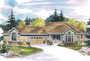 Contemporary House Plan - Irvington 30-493 - Front Elevation