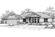Contemporary House Plan - Kincaid 30-147 - Front Elevation