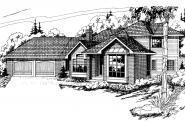 Contemporary House Plan - Normandy 10-050 - Front Elevation