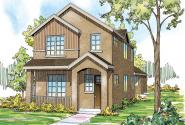Contemporary House Plan - Rock Creek II 30-820 - Front Elevation