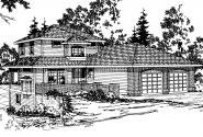 Contemporary House Plan - Samuel 30-026 - Front Elevation