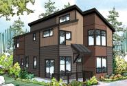 Contemporary House Plan - Sandstone 30-926 - Front Elevation