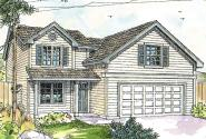 Cottage House Plan - Elkins 30-466 - Front Elevation