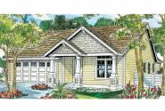 Cottage House Plan - Preston 30-675 - Front Elevation