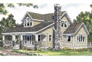 Country House Plan - Altadena 41-006 - Front Elevation