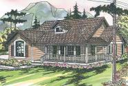 Country House Plan - Ann Arbor 10-146 - Front Elevation