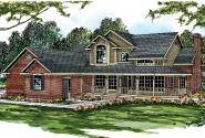 Country House Plan - Charleston 10-252 - Front Elevation