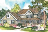 Country House Plan - Clayton 10-292 - Front Elevation