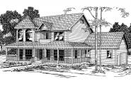Country House Plan - Evansville 30-045 - Front Elevation
