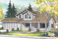 Country House Plan - Jennings 10-279 - Front Elevation