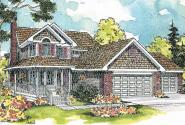 Country House Plan - Oakheart 10-400 - Front Elevation