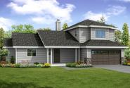 Country House Plan - Oakview 30-851 - Front Elevation