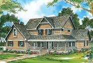 Country House Plan - Richland 10-256 - Front Elevation