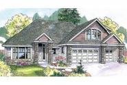 Country House Plan - Saddlebrook 30-616 - Front Elevation