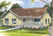 Country House Plan - Sandberg 30-083 - Front Elevation
