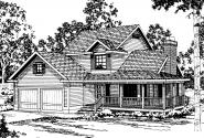 Country House Plan - Washburn 10-093 - Front Elevation