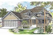 Country House  Plan - Winfield 30-139 - Front Elevation