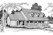 Country House Plan - Wyndmere 30-038 - Front Elevation