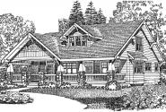Craftsman House Plan - Cedarwood 41-016 - Front Elevation
