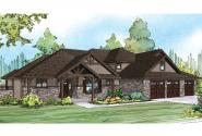 Craftsman House Plan - Cedar Creek 30-916 - Front Elevation