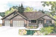 Craftsman House Plan - Goldendale 30-540 - Front Elevation
