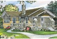 Craftsman House Plan - Pinewald 41-014 - Front Elevation