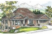 Craftsman House Plan - Worthington 30-594 - Front Elevation