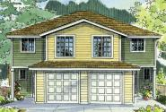 Duplex Plan - Bergen 60-026 - Front Elevation