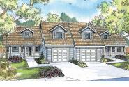 Duplex Plan - Kirkwood 60-013 - Front Elevation