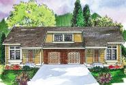 Duplex Plan - Mooresville 60-005 - Front Elevation
