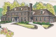 European House Plan - Edgewood 30-313 - Front Elevation